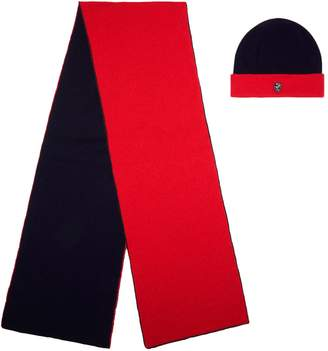 Philip Treacy Cashmere Reversible Knitted Hat And Scarf Set