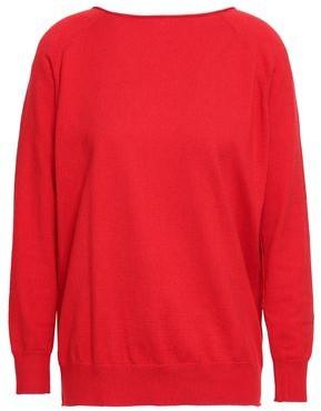 Maje Chain-embellished Cotton-blend Sweater