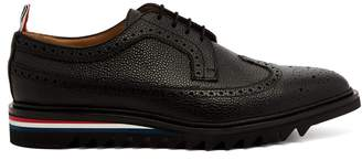 Thom Browne Longwing stacked-sole pebbled-leather brogues