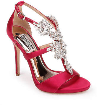 Badgley Mischka Leah Embellished T-Strap Sandals