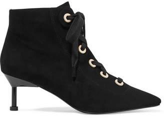 Mercedes Benz Castillo - Payton Lace-up Suede Ankle Boots - Black