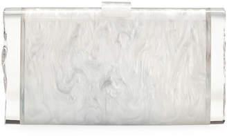 Edie Parker Lara Backlit Confetti Rainbow Hearts Clutch Bag
