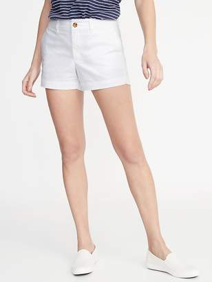Old Navy Mid-Rise Twill Everyday Shorts for Women - 3 1/2-inch inseam