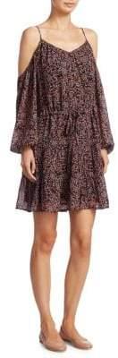 Paige Carmine Woodstock Floral Silk Dress