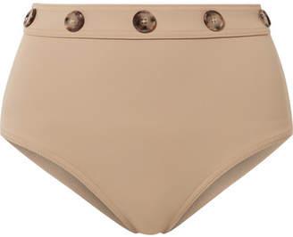 Karla Colletto Lauren Button-embellished Bikini Briefs - Sand