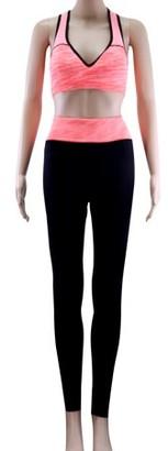 Acappella Womens High Waist Yoga Pants Tummy Control Workout Running 4 Way Stretch Yoga Leggings Orange - 2X Large
