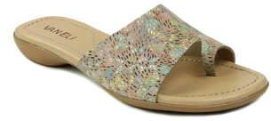 VANELi 'Tallis' Snake Embossed Leather Slide Sandal