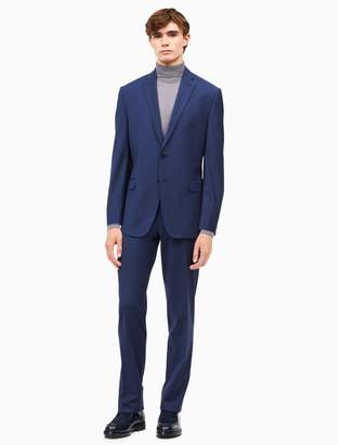 Calvin Klein big + tall solid blue suit