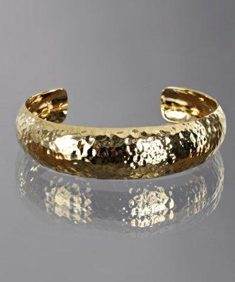 Argento Vivo gold hammered vermeil small cuff