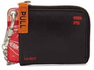Heron Preston Chain Lanyard Leather Wallet - Mens - Black Multi