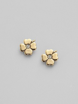 Juicy Couture Gold Clover Studs