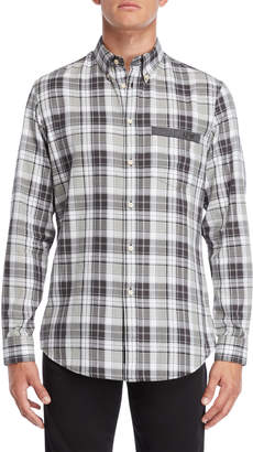 Armani Jeans Plaid Comfort Fit Shirt