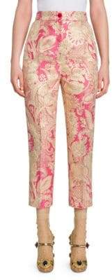 Dolce & Gabbana Fashion Devotion Floral Jacquard Pants