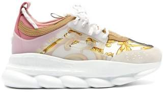 Versace Chain Reaction Baroque Print Trainers - Womens - White Multi