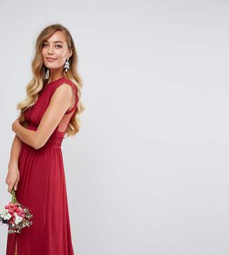 TFNC Tall Tall Lace Detail Maxi Bridesmaid Dress