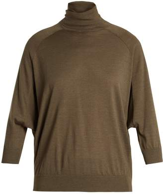 Brunello Cucinelli Roll-neck cashmere-blend sweater
