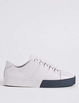 Marks and Spencer Leather Lace-up D-Ring Trainers