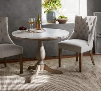 Pottery Barn Alexandra Marble Pedestal Dining Table