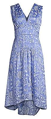 Elie Tahari Women's Celeste Floral Empire Waist A-Line Dress - Size 0