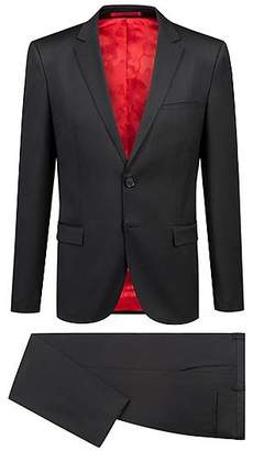 HUGO BOSS Extra-slim-fit virgin-wool suit with natural stretch