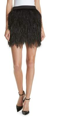 Robert Rodriguez Ostrich Feather Miniskirt