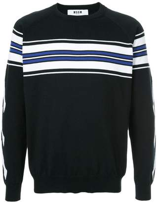 MSGM X Diadora stripe detail sweater