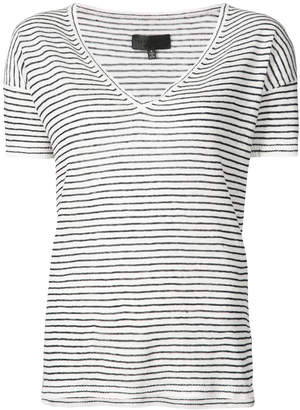 Nili Lotan striped V-neck T-shirt