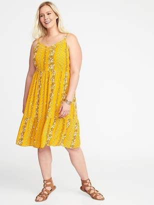 Old Navy Plus-Size Fit & Flare Tiered Midi Dress
