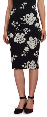 5twelve Floral-Embroidered Pencil Skirt