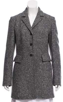 Michael Kors Notch-Lapel Tweed Coat