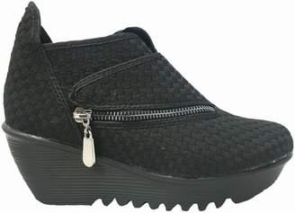 Bernie Mev. Womens Zig Zag Shoes Metallic Size 35