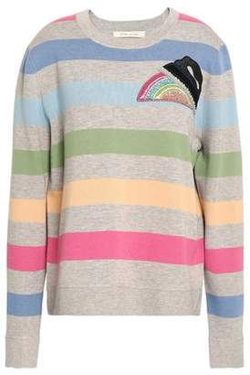 Marc Jacobs Embellished Striped Jersey Sweatshirt