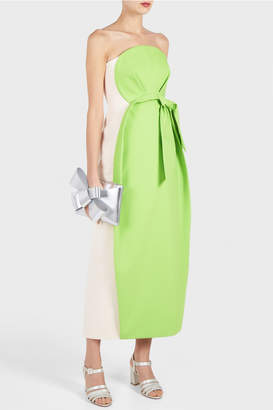 DELPOZO Strapless Bow Dress