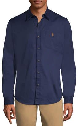 U.S. Polo Assn. USPA Long Sleeve Button-Front Shirt-Slim