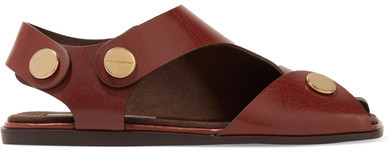 Stella McCartney - Cutout Faux Leather Sandals - Tan