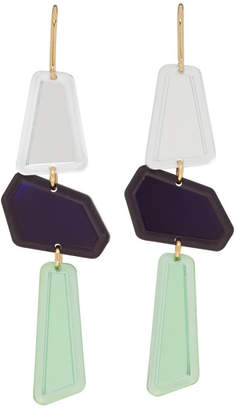 Isabel Marant Multicolor Contrast Drop Earrings