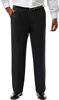 Haggar JM Premium Stretch Sharkskin Classic Fit Pleated Suit Pants - Big & Tall