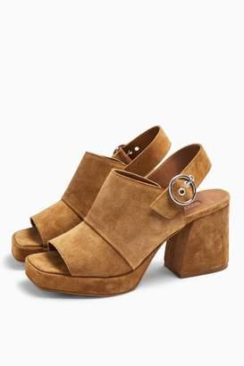 Topshop NOLAN Tan Platform Shoes