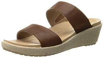 Crocs Women's A-Leigh 2 Strap Mini W Wedge Sandal