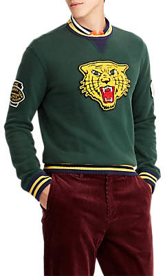 Ralph Lauren Polo Jersey Tiger Jumper, College Green