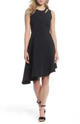 Adelyn Rae Bonnie Asymmetrical Fit & Flare Dress