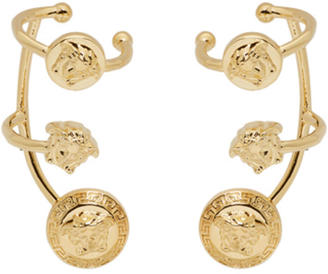 Versace Gold Medusa Multi Cuff Earrings