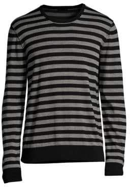 ATM Anthony Thomas Melillo Merino Wool Long-Sleeve Stripe Sweater