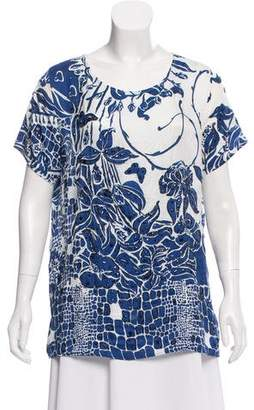 Emilio Pucci Embroidered Printed Top
