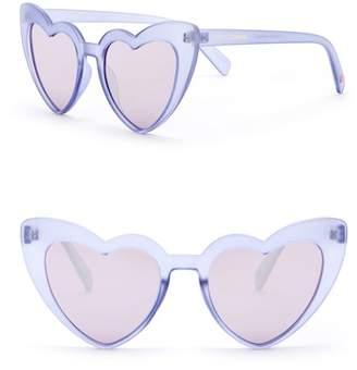 Betsey Johnson 52mm Heart Cat Eye Sunglasses