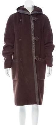 Max Mara Hooded Alpaca Coat