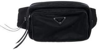 Prada Saffiano-Trimmed Tessuto Waist Bag