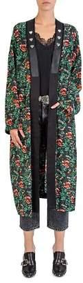 The Kooples Silk Poppy Field Printed Kimono
