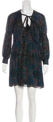 Rachel Zoe Silk Printed Mini Dress w/ Tags