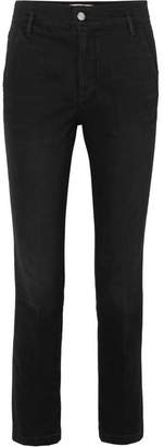Frame Le Slender High-rise Straight-leg Jeans - Black
